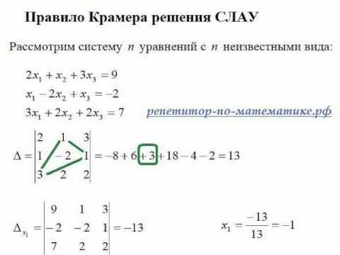 Решение онлайн определитель – Онлайн калькулятор. Решение систем линейных уравнений. Матричный метод. Метод обратной матрицы.